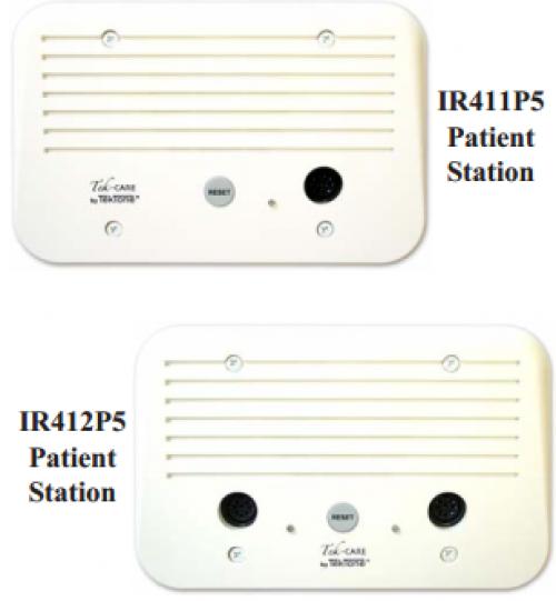 Trạm bệnh nhân với 1 và 2 dây gọi IR411P5, IR412P5